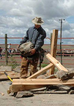 Events: Stockgrowers Rodeo & World Championship Rock Jack Building contest