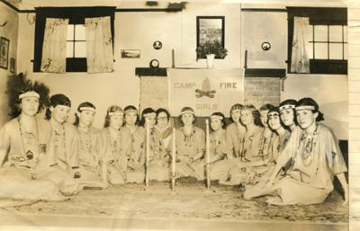 Out of the Past Campfire girls 1937