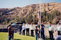 Troy news/Flag pole dedication at school lead by VFW