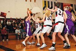 Lady Outlaws knock out first conference foe