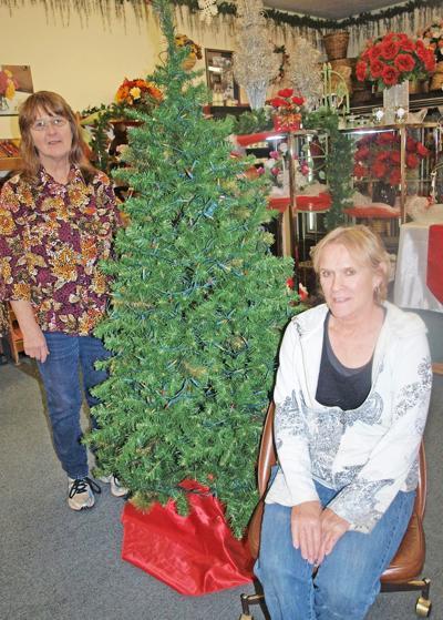Christmas Basket program hanging on