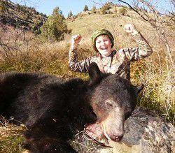 Young archery champ guns first bear
