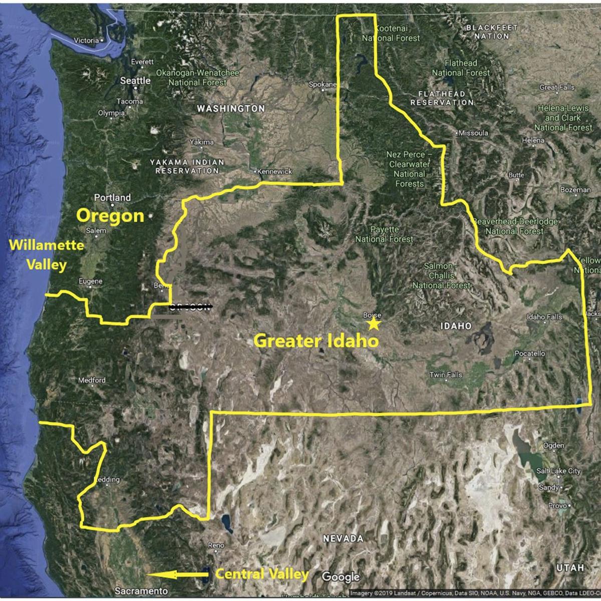 Greater Idaho map