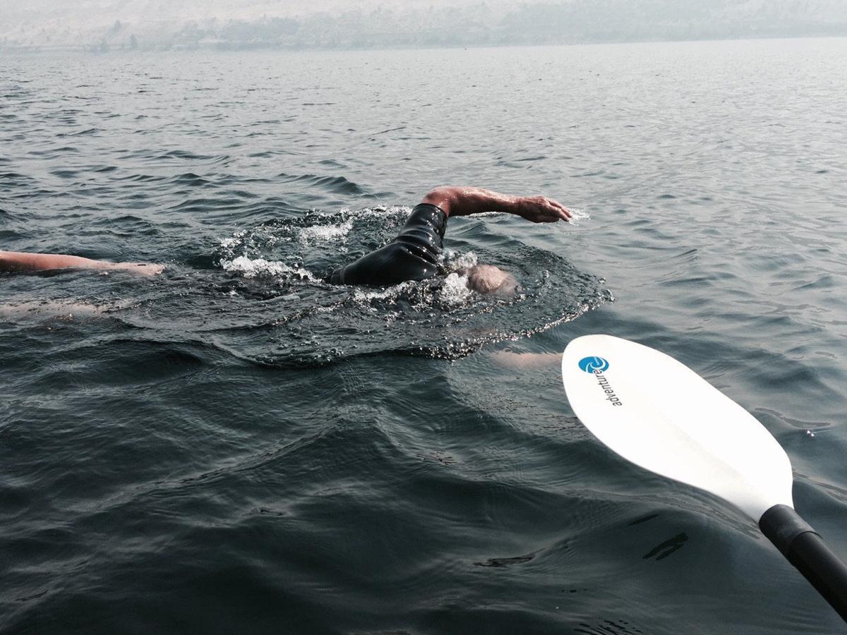 Ambroson, Concannon swim lake's length