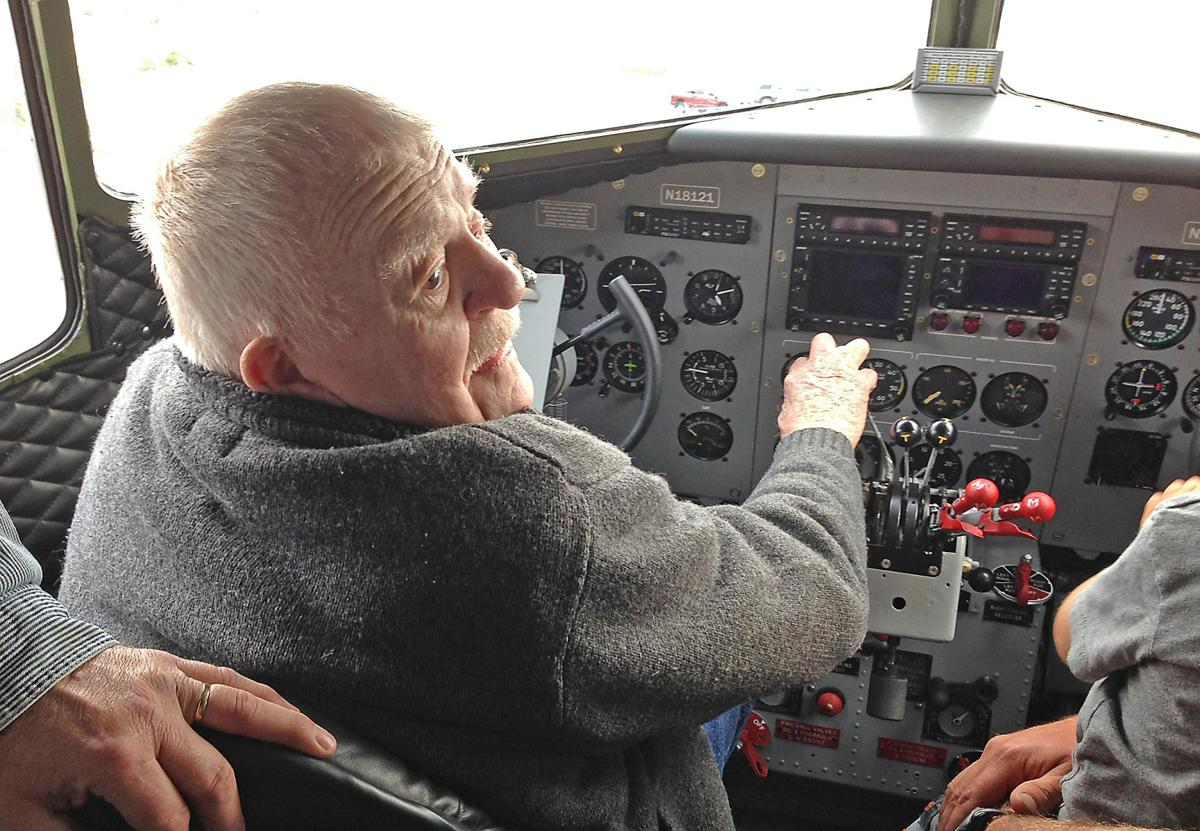 Flyin Ted Grote at DC3 controls