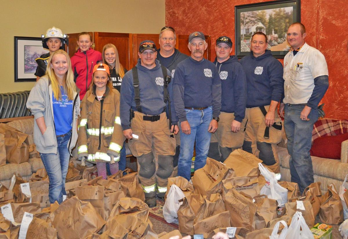 Fire departments help stock food banks