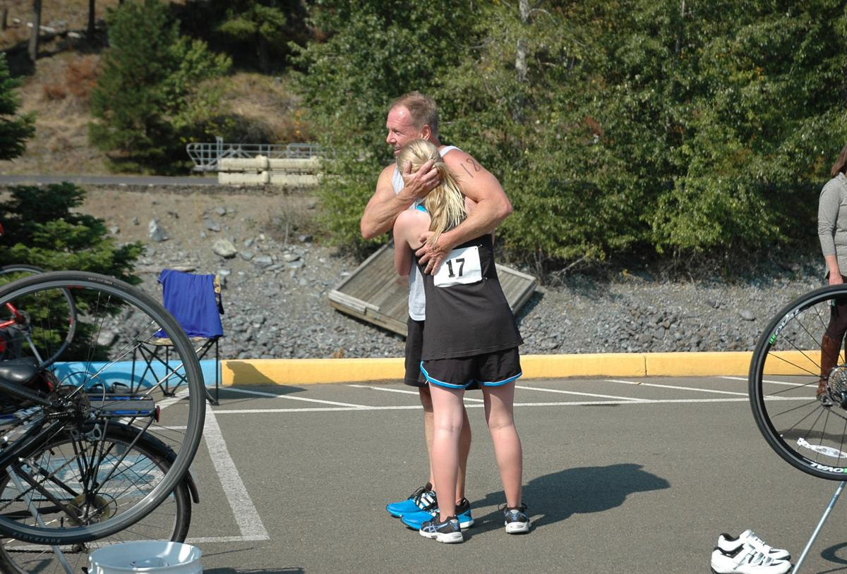 Dad and daughter take on Triathlon