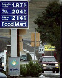 County gasoline prices well above the national norm