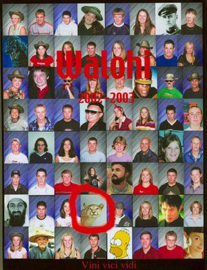 Terrorists grace yearbook cover