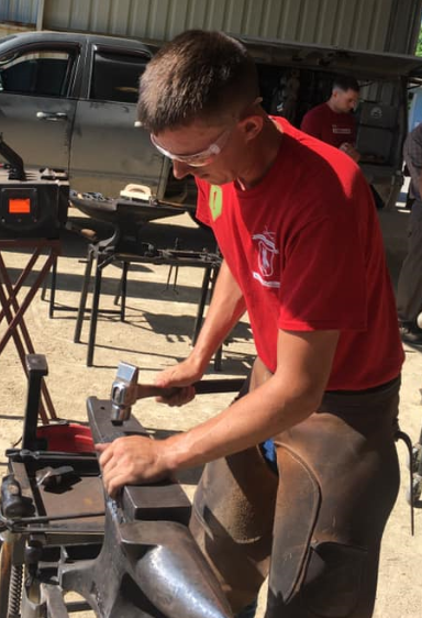 Fort Riley Color Guard Soldiers Receive Horseshoeing Certification Through Training With Alta Vista Farrier