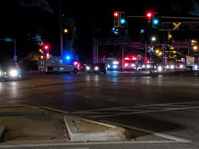 1 hospitalized during motorcycle, car crash | Top Stories