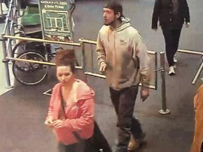 Manhunt underway in store felony theft case
