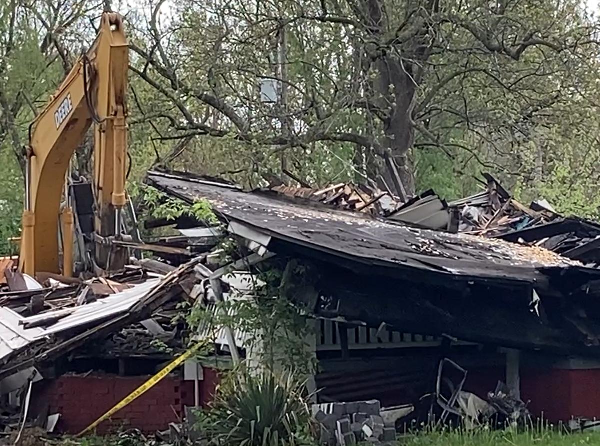 Decatur Main Street fire demolition 2
