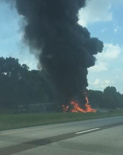 1 dead in fiery interstate crash