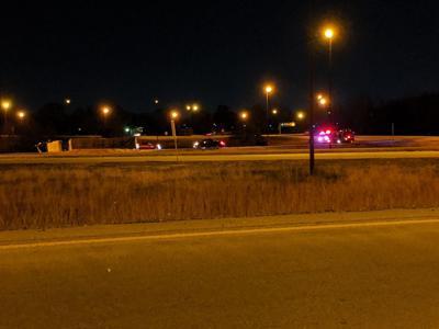 Overturned semi-truck, 51 to I-72