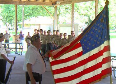 Moweaqua scouts hold Flag Day ceremony