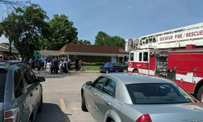 Fire erupts at Decatur Manor
