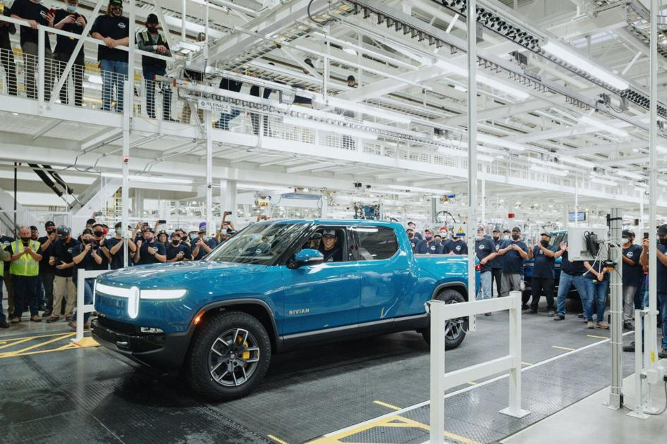 First Rivian customer vehicle completed at production line in Normal