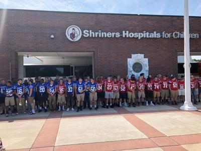Local players arrive at Shrine Game HQ