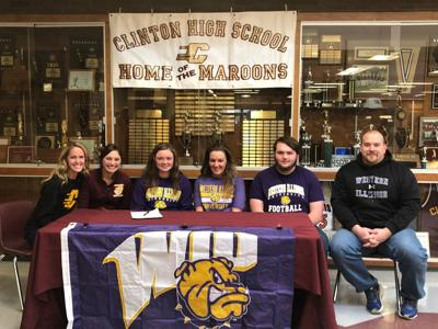 Clinton's Workman signs with Western Illinois