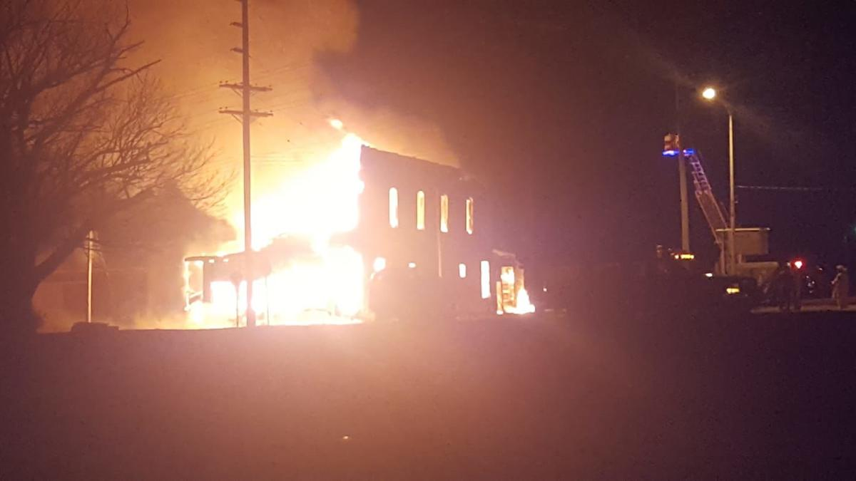 Brewing company leveled by fire