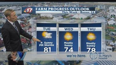 Heat this week to help dry up corn