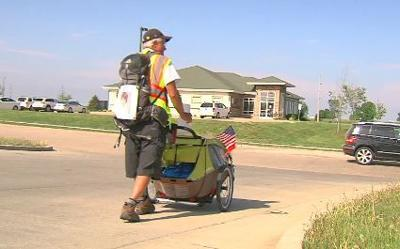 Man takes ashes coast to coast in wife's memory