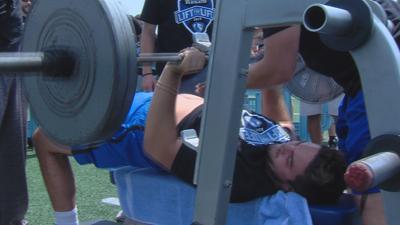 Panthers lift to raise money.