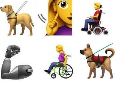 Apple proposing new emojis for people with disabilities