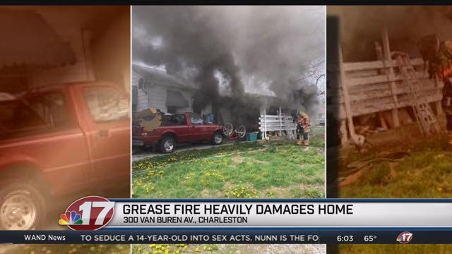 Kitchen heavily damaged in grease fire | Top Stories