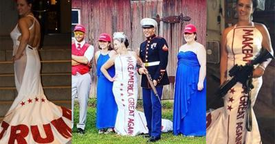 Trump themed wedding