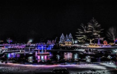 sunset memorial park swan lake