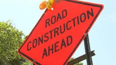 Springfield road closed for construction work