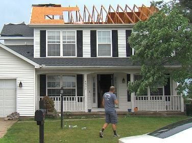 Confirmed tornadoes damaged Champaign homes