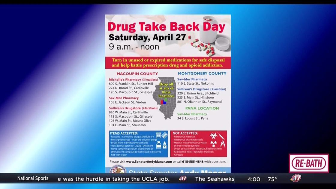 Local pharmacies participating in drug take back event | Top Stories