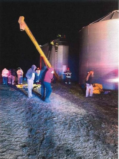 Stonington grain bin rescue