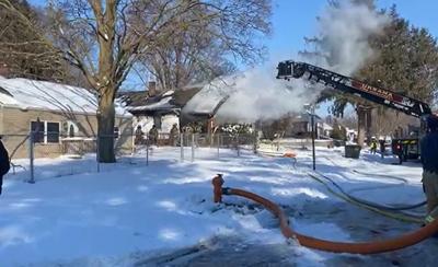 Urbana house fire - Hill Street