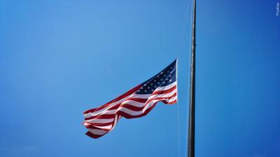 USE THIS VERSION flag at half staff