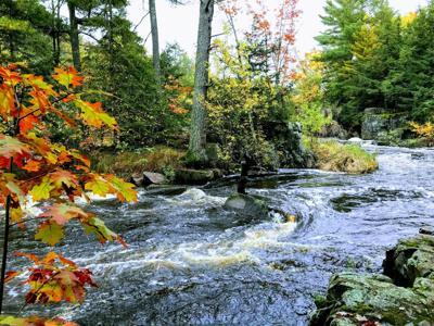 Eau Claire River Dells in fall