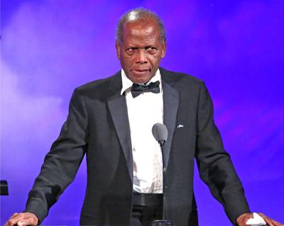 Sidney Poitier in a 2017 file photo