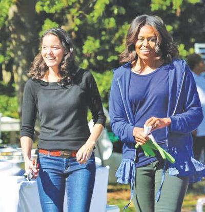 Deb Eschmeyer with Michelle Obama