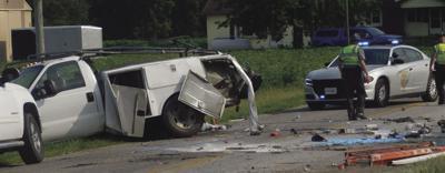 white truck crash
