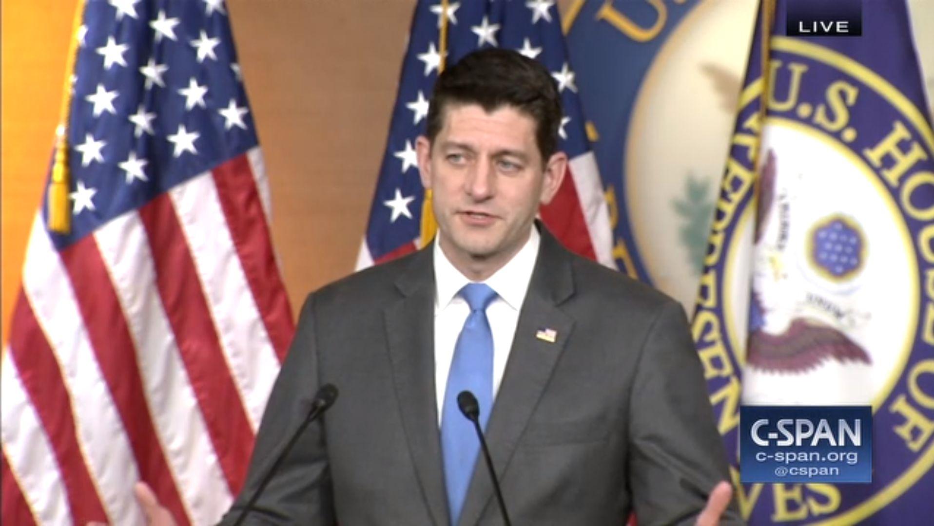 U.S. House Speaker Paul Ryan Confirms His Retirement