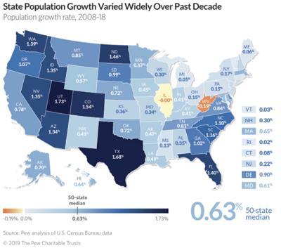 FILE - Pew population map