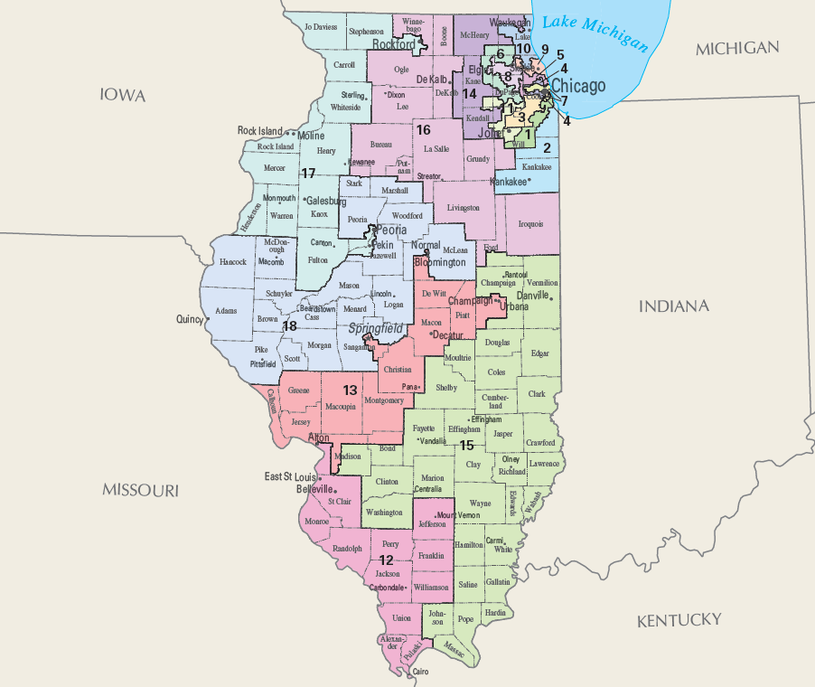 FILE - Illinois Congressional Districts