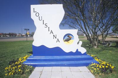 FILE - Welcome to Louisiana sign