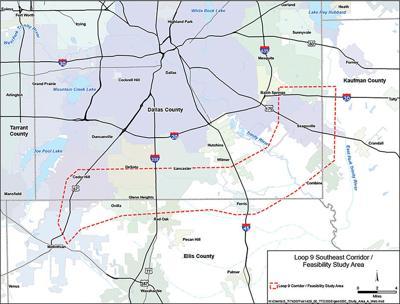 Proposed Loop 9 route