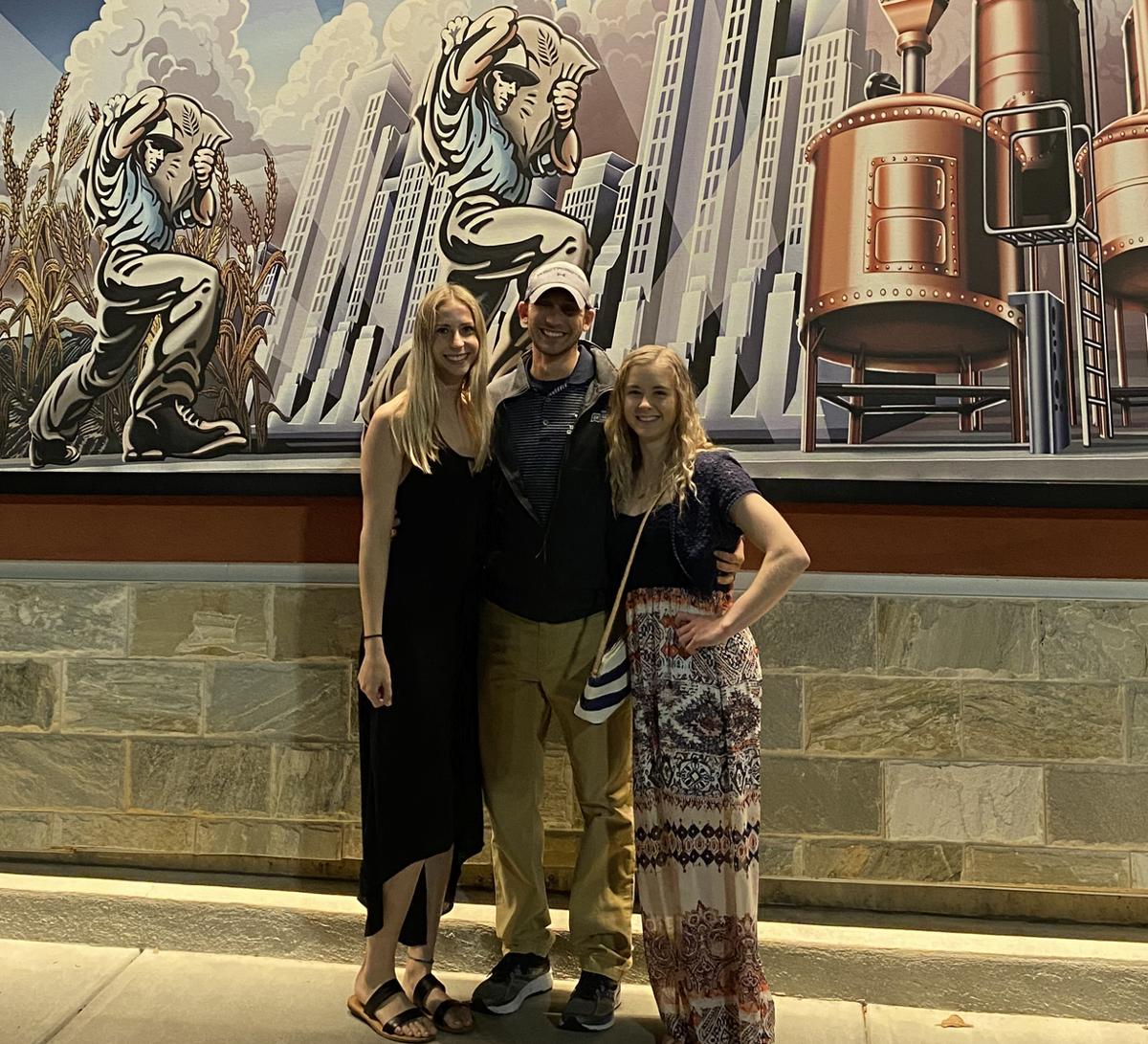 2020 Indoor NCAA Nationals (L-R: Emma Rudolph, Pole Vault Coach Bradi Rhoades, Morgan Gossard)