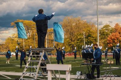 Titan Marching Band homecoming performance