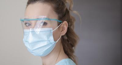 health worker with mask and shield-mask-pandemic-coronavirus-covid-19